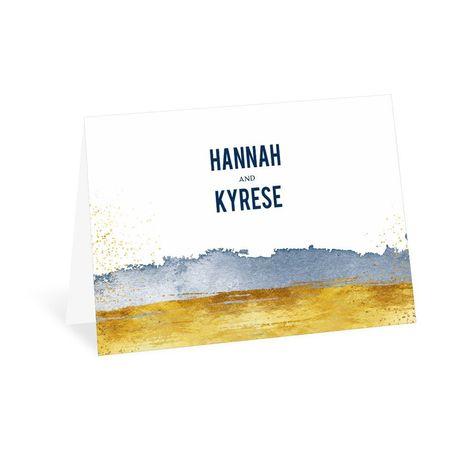 Golden Brushstroke - Thank You Card