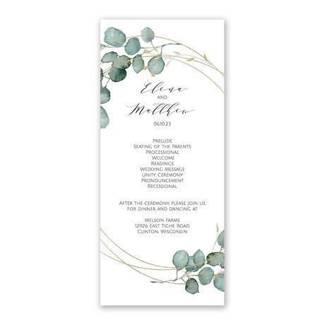Eternity - Wedding Program