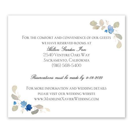 Petite Blooms - Aegean - Information Card