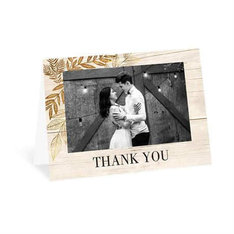 Leaves of Gold Thank You Card