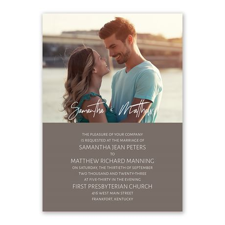 Basically Perfect - Invitation with Free Response Postcard