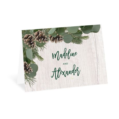 Winter Pine Thank You Card