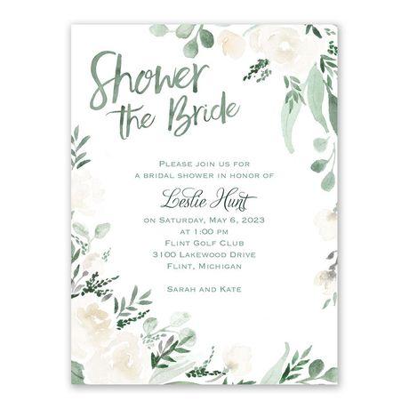 Painted Garden Bridal Shower Invitation