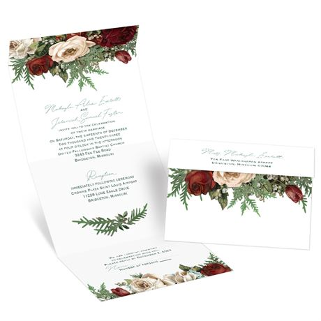 Winter Blooms - Seal and Send Invitation