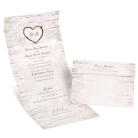 Birch Heart - Seal and Send Invitation