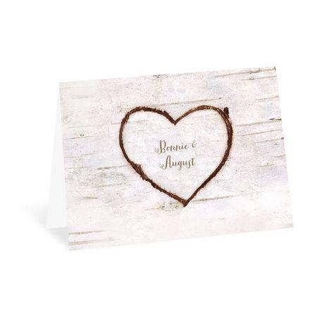 Birch Heart Thank You Card