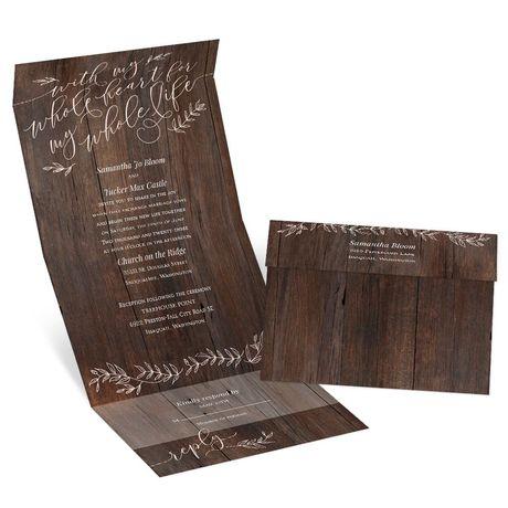 Rustic Romance - Seal and Send Invitation