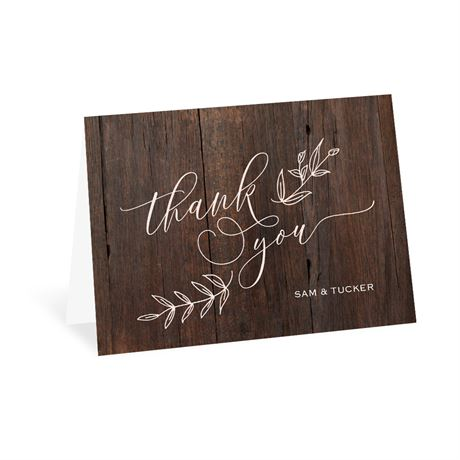 Rustic Romance Thank You Card