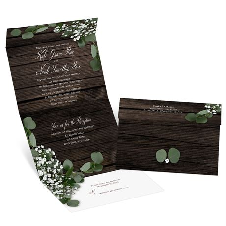 Delicate Details Seal and Send Invitation
