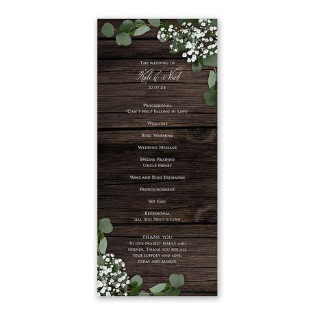 Delicate Details Wedding Program