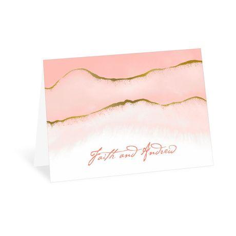 Golden Ombre - Thank You Card
