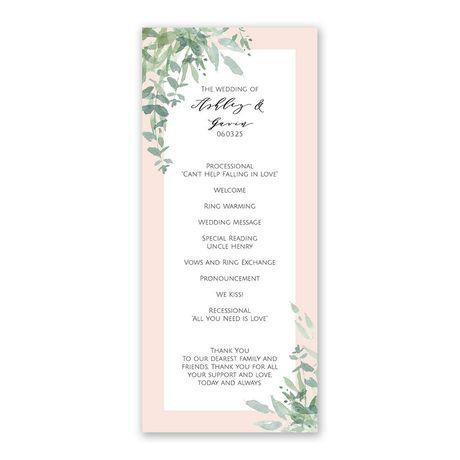 Watercolor Myrtle Wedding Program