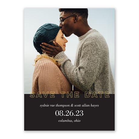Gold Marquee Save the Date