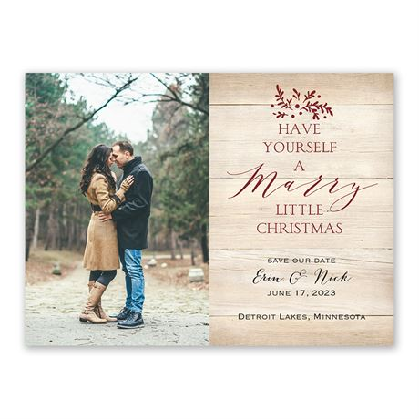 Marry Little Christmas - Holiday Save the Date