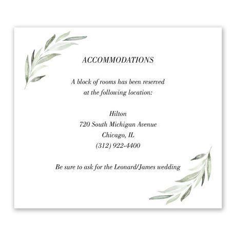 Minimalist Greenery Information Card