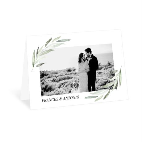 Minimalist Greenery - Thank You Card