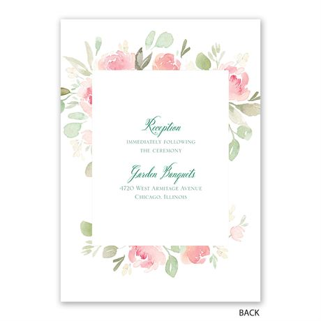 Blossoming - Invitation with Free Response Postcard