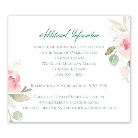 Blossoming - Information Card