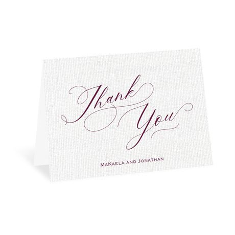 We Love Because - Thank You Card