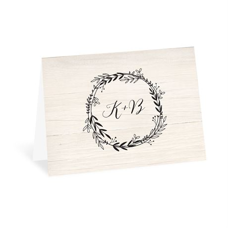 Rustic Wreath - Thank You Card