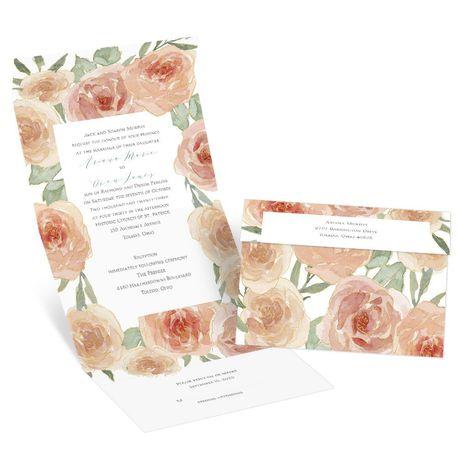 Peach Blossoms - Seal and Send Invitation