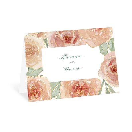 Peach Blossoms - Thank You Card