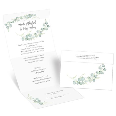 Painted Greenery - Seal and Send Invitation
