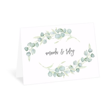Painted Greenery Thank You Card