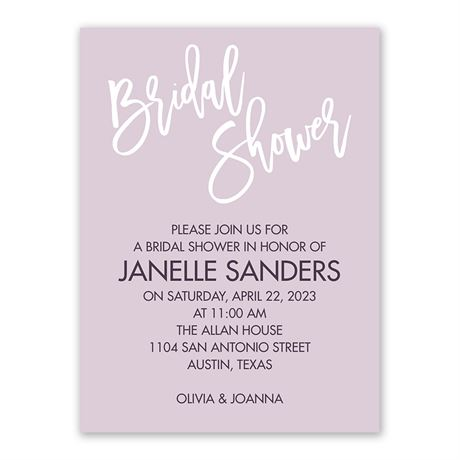 Pure Bliss - Bridal Shower Invitation