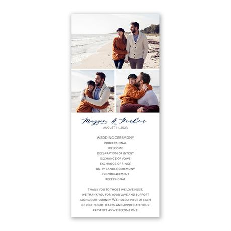 Photo Collage Wedding Program