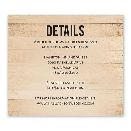 Modern Woodgrain - Information Card