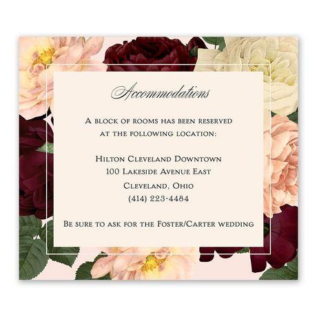 Vintage Blooms - Information Card