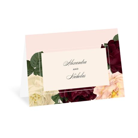 Vintage Blooms - Thank You Card