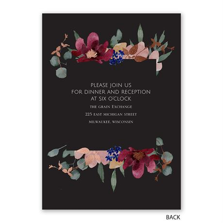 Striking Floral - Invitation with Free Response Postcard