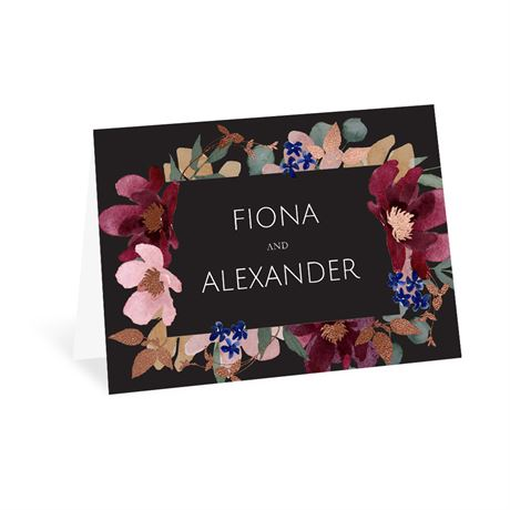 Striking Floral - Thank You Card