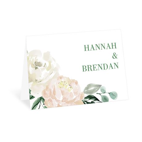 Garden Rose Thank You Card