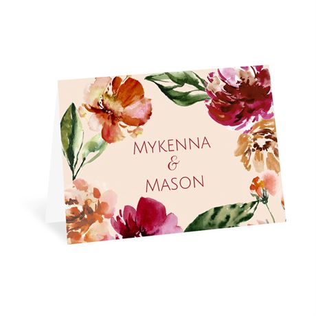 Autumn Blooms - Thank You Card