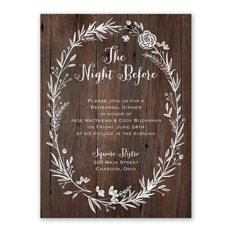 Ever After - Rehearsal Dinner Invitation