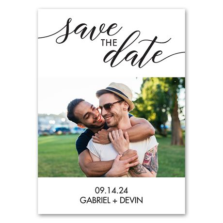 In Script - Save the Date Magnet