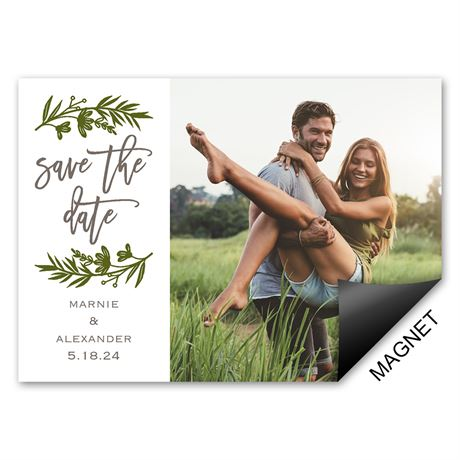 Sweet Greens Save the Date Magnet
