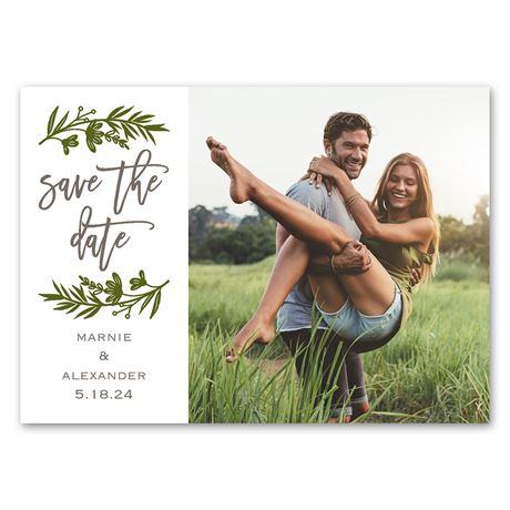 Sweet Greens - Save the Date Magnet