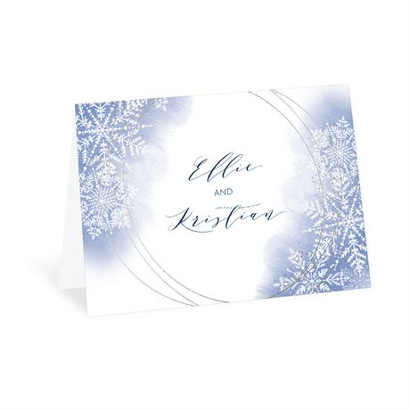 Watercolor Snowflake - Thank You Card