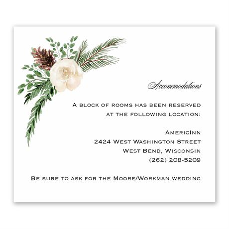 Floral and Pine - Information Card
