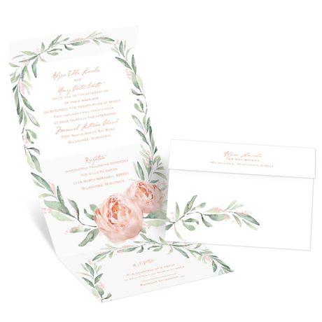 Blush Beauty - Seal and Send Invitation