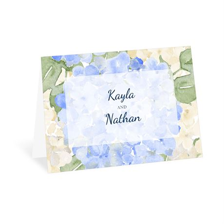 Blue Blooms - Thank You Card