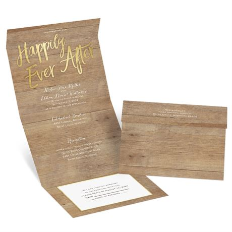 Sparkling Rustic - Seal and Send Invitation