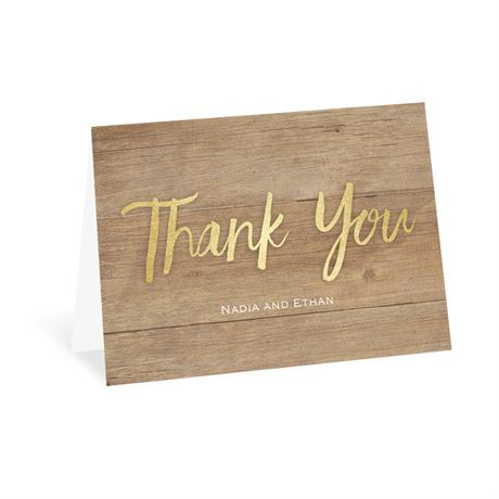 Sparkling Rustic Thank You Card