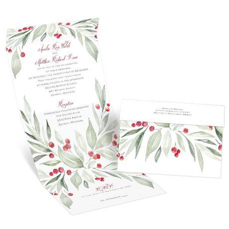 Winter Greens - Seal and Send Invitation