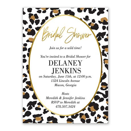 Wild Time Bridal Shower Invitation