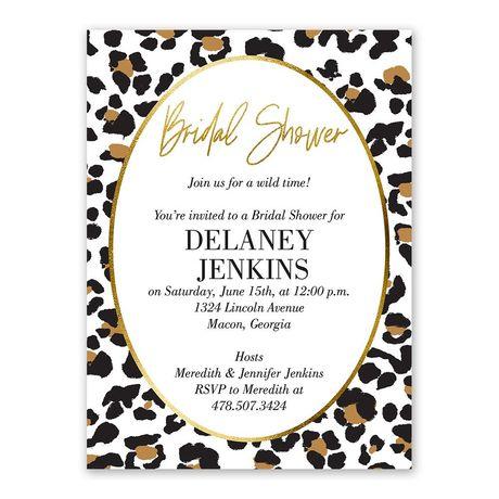Wild Time - Bridal Shower Invitation